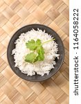 bowl of rice | Shutterstock . vector #1164058222