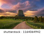 Sunrise at devils tower  wyoming