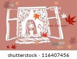 beautiful autumn scene  ... | Shutterstock .eps vector #116407456