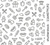seamless pattern with barbecue. ... | Shutterstock .eps vector #1164079192