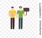 demonstration vector icon... | Shutterstock .eps vector #1164080575
