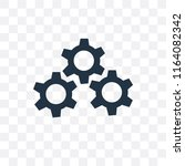 settings vector icon isolated... | Shutterstock .eps vector #1164082342