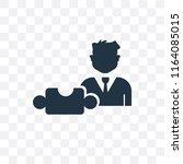 strategic vector icon isolated... | Shutterstock .eps vector #1164085015