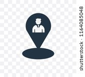 location vector icon isolated... | Shutterstock .eps vector #1164085048
