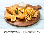 fish and chips with french... | Shutterstock . vector #1164088192