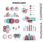 modern data visualisation... | Shutterstock .eps vector #1164090655