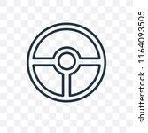 steering wheel vector icon... | Shutterstock .eps vector #1164093505