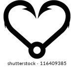 heart hook   Shutterstock .eps vector #116409385