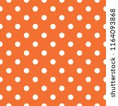 vector orange polka dot pattern | Shutterstock .eps vector #1164093868
