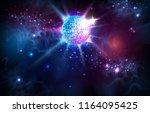 disco ball. disco ball on open... | Shutterstock .eps vector #1164095425