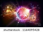 disco ball. disco ball on open... | Shutterstock .eps vector #1164095428