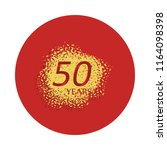 50 years anniversary sign icon...
