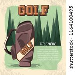 golf club label with caddy bag | Shutterstock .eps vector #1164100495