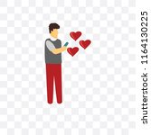 dating vector icon isolated on... | Shutterstock .eps vector #1164130225