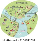 istanbul tourist map... | Shutterstock .eps vector #1164133708