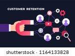customer retention strategy ... | Shutterstock .eps vector #1164133828