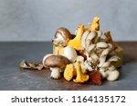 mushrooms different mushrooms ...   Shutterstock . vector #1164135172