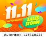 sale poster template design.... | Shutterstock .eps vector #1164136198