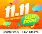 sale poster template design.... | Shutterstock .eps vector #1164136198