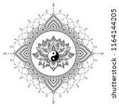 circular pattern in form of... | Shutterstock .eps vector #1164144205
