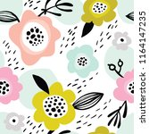 seamless pattern with simple... | Shutterstock .eps vector #1164147235
