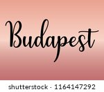 decorative budapest text  black ... | Shutterstock .eps vector #1164147292