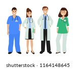 group of doctors in a hospital  ... | Shutterstock .eps vector #1164148645