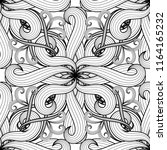 intricate black and white... | Shutterstock .eps vector #1164165232
