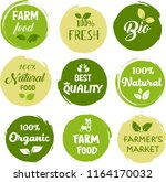 organic food  farm fresh and... | Shutterstock .eps vector #1164170032