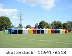 empty colorful canopy booth | Shutterstock . vector #1164176518