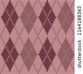 seamless knitted pattern with... | Shutterstock .eps vector #1164188365