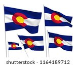 colorado state vector flags set.... | Shutterstock .eps vector #1164189712
