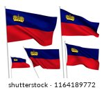 liechtenstein vector flags set. ...   Shutterstock .eps vector #1164189772