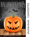 poster for halloween party...   Shutterstock .eps vector #1164203752