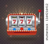 vector slot machine with bright ... | Shutterstock .eps vector #1164216412