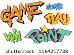 game style graffiti letters... | Shutterstock .eps vector #1164217738