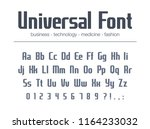 universal font for business... | Shutterstock .eps vector #1164233032