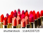 colorful lipstick put together...   Shutterstock . vector #1164233725