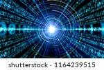 digital binary code concept. | Shutterstock . vector #1164239515