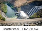 hydroelectric power plant on... | Shutterstock . vector #1164241462