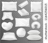 pillow vector soft pillow block ... | Shutterstock .eps vector #1164256015