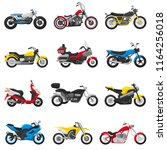 motorcycle vector motorbike and ... | Shutterstock .eps vector #1164256018