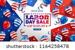 labor day sale poster template... | Shutterstock .eps vector #1164258478