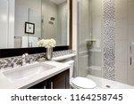 bathroom modern interior with... | Shutterstock . vector #1164258745