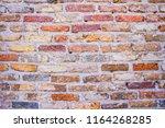 brick wall background texture  | Shutterstock . vector #1164268285