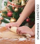 Christmas baking - stock photo