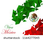 mexico flag in geometric style. ... | Shutterstock .eps vector #1164277045