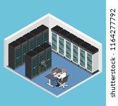 flat 3d isometric businessman... | Shutterstock .eps vector #1164277792