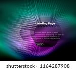 neon glowing techno hexagon...   Shutterstock .eps vector #1164287908