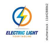 flash electric logo vector bolt ... | Shutterstock .eps vector #1164288862